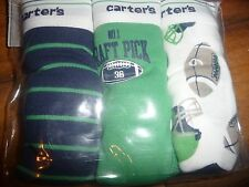 New Carter's 3 Pairs Underwear Boy Briefs size 2-3T football theme NWT