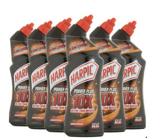 Harpic Power Plus Original Toilet Cleaner Liquid 6 x 750ml