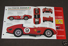 1957-1962 (1959) FERRARI TESTA ROSSA 250TR SPEC SHEET BOOKLET PHOTO BROCHURE