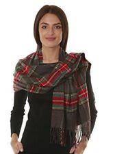GILBIN'S Big Winter Warm Tartan Checked Cashmere Feel Shawl Blanket Scarf