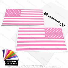 "6.5"" 8"" US American Flag Vinyl Car Decal Sticker Hood USA Window Laptop Military"