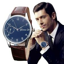 Retro Entwurf Herren Quarz-Uhren Leder Band Analog Alloy Mode Armbanduhren