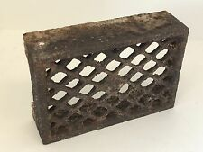 Victorian Vintage Antique Cast Iron Brick Air Vent Grate Grill Trivet Stand Old