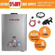 GASLAND Portable Gas Hot Water Heater Instant LPG Camping Shower Caravan Trailer