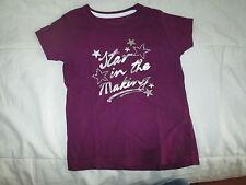 Tee-shirt Violet à strass,MC,T6ans,marque Sport Way,neuf!