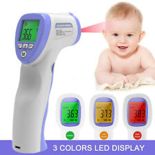 No Touch Infrared Digital Forehead Thermometer Baby Adult Body Temperature gun
