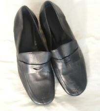 Volutti Black Leather Loafers Size 8.5 US