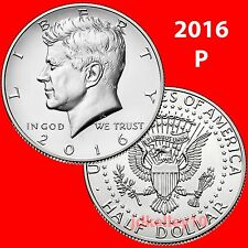 2016-P KENNEDY HALF DOLLAR CLAD UNCIRCULATED COIN FROM US MINT