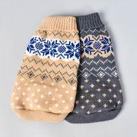 2 stücke Winter Pullover Haustier Kleidung Warme Weiche Haustier Kostüm Hund Trä