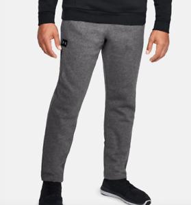 Under Armour Sweatpants Mens 3XL Charcoal Gray New ColdGear Fleece Pants 31 Inch