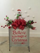 "Believe in the Magic of Christmas Decal Sticker for 8"" Glass Block DIY Crafts"