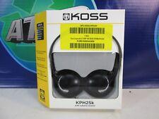 NEW | Koss KPH25K Lightweight Black On Hear Headphones | In-Line Volume Control