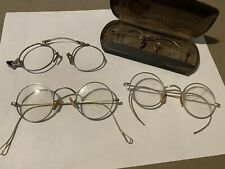 Vintage eyeglasses spectacles lot of 4 Shur-On Squire Ao Case Wire Rim