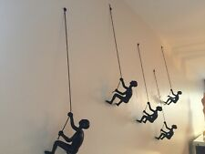 5 Piece Climbing Man Sculpture Wall Art Gift For Home Decor Interior Design