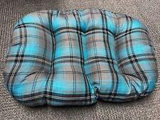 Grandi dimensioni color foglia di tè Tartan Cotone Cane Gatto Letto Cuscino per la parte inferiore del cestello UK Made