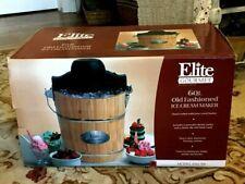 Elite Gourmet Eim-506: Old Fashioned Ice Cream Maker, 6 qt Model - Pine