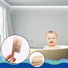 Wooden Handle Brush Baby Newborn Hair Brush Infant Comb Head Massager Tool