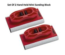 2 Hand Held Mini levigatura blocco di legno attrezzature di lavoro carta vetrata levigatrice falegname