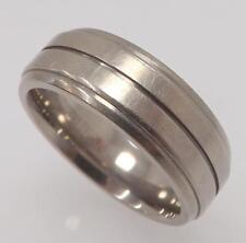 TITANIUM 7 MM WIDE MENS WEDDING BAND RING SIZE 10 RT3