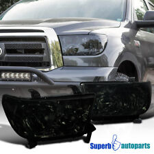 For 2007-2013 Toyota Tundra/ Sequoia Replacement Headlights Light+Right Smoke