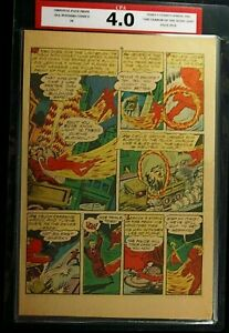 All Winners Comics #4 CPA 4.0 SINGLE PAGE #9/10 Human Torch Timely Comics