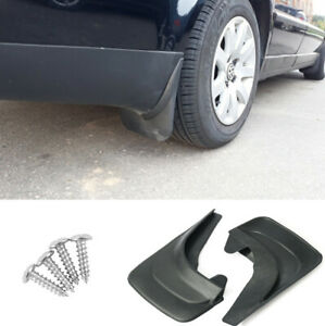 2 Pairs Front & Rear Fender Black Mud Flaps Splash Guards For Car Truck Vans RV