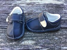 Little Rascals Boys Toddler Size 4 Navy Leather