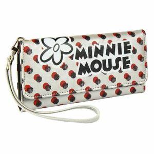 Retro Minnie Mouse Large Clutch Purse