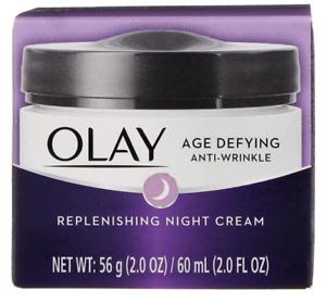 Olay Age Defying Anti-Wrinkle Replenishing Night Cream, 2.0 oz fl. oz. NIB
