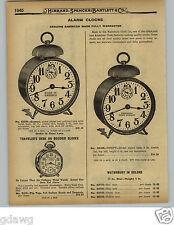 1929 PAPER AD Waterbury Tip Top American Made Alarm Clock Clocks Tell Tale True
