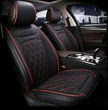 2x vordere Schonbezüge Schwarz Komfort Kunstleder Elegant für Hyundai Kia Nissan
