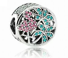 Charms Flamingo Crystal Bead Charm Fits European Charm Bracelets birthday  CH122