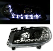BLACK color finish headlights with LED DRL lights for Renault Megane II 02-05