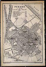 PESARO, alter Stadtplan, datiert 1896