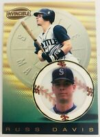 1999 Pacific Invincible Red Russ Davis #134 Seattle Mariners