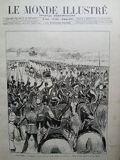 MONDE ILLUSTRE 1897 N 2102 ALDERSHOT- LA REINE QUITTE LE TERRAIN DE LA REVUE