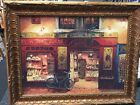 """VICTOR SHVAIKO  - WINE AND BREAD PRINT FRAMED - GOLD BEAUTIFUL 2"""" FRAME"""
