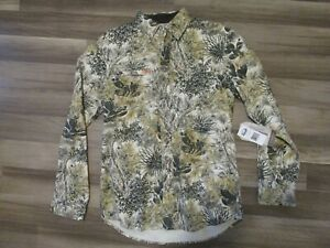 New Men's Game Guard Cactus Camo Button Down Long Sleeve Flannel Shirt Sz S to M
