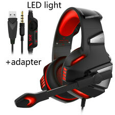 Red 3.5mm Gaming Headset MIC LED Light Headset For Laptop PS4 Xbox One 360 PC