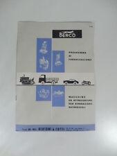 Berco. Macchine e attrezzature per riparazione autoveicoli. Pubblicita'