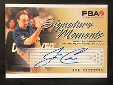 JOE CICCONE 2008 Rittenhouse PBA Bowling AUTOGRAPH Signature Moments AUTO