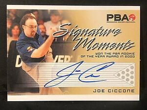 JOE CICCONE 2008 Rittenhouse PBA Bowling AUTOGRAPH Signature Moments AUTO