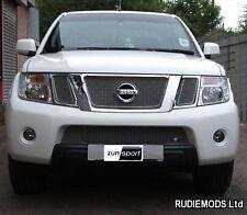 Zunsport fits Nissan Navara 2010 - 2013 Upper and Lower Front Grille Set 4 piece