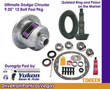Dodge Chrysler 9.25 Posi Pkg. Yukon Duragrip Ring & Pinion Late 2000 3.92 Ratio