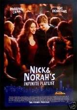 NICK & NORAH'S INFINITE PLAYLIST *1SH MOVIE POSTER NM-M