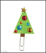 Christmas Tree Felt Bookmark with Jewels Abcraft