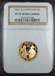 2007 W Jamestown PROOF $5 Gold Commemorative NGC PF-70