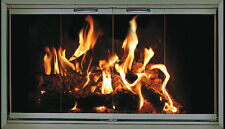 Pewter Fireplace Glass Doors for Temco (Tempco) fireplaces TE53-FS2