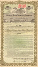 Whiting Manufacturing Company > 1917 Tennessee 50,000 pound bond certificate