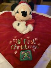 Disney Baby Mickey Mouse Comforter my first Christmas VGC soft blanket